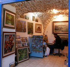 artist`s studio in Zafed