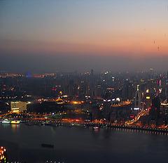 Abendstimmung in Shanghai