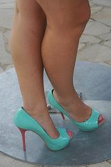 Les escarpins de Clarisse / Clarisse's high heels.