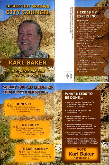 Karl Baker mailer