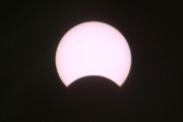 Sonnenfinsternis über Bremen