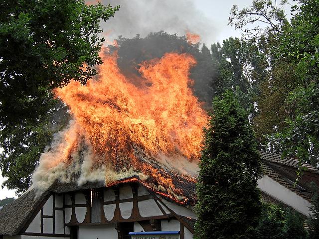 Feuer in Bremen/Fire in Bremen