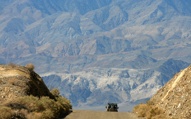 Wildrose Road Going Into Panamint Valley (9641)