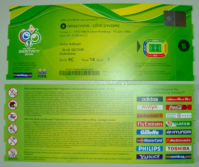 Worldcup 2006: Argentinia - Cote D'Ivoire