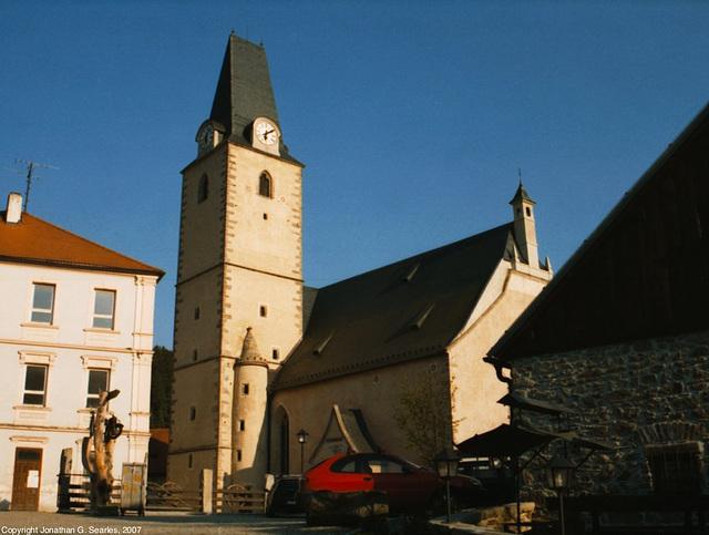Church and Pub, Rozmberk, Bohemia(CZ), 2007
