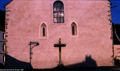Shadows On Church, Rozmberk, Bohemia(CZ), 2007