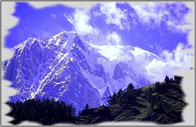 Mont Blanc vu du massif des Aiguilles Rouges
