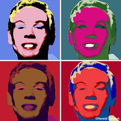 self portrait, inspired by Andy Warhol