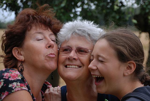 Trois générations réunies