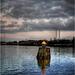 """Sunset over """"Kiel Canal"""""""