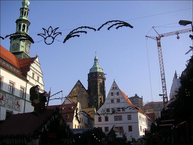 Pirna Rathaus und Marienkirche