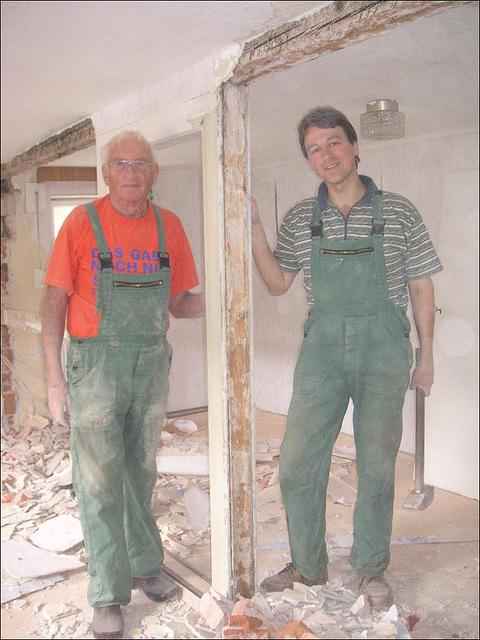 erste Arbeiten am 6. 3. 2006