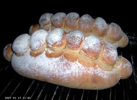 French-Style Bread in vorm van hanekam 1