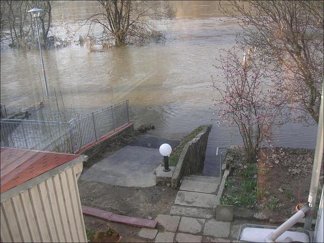 Das Hochwasser geht zurück