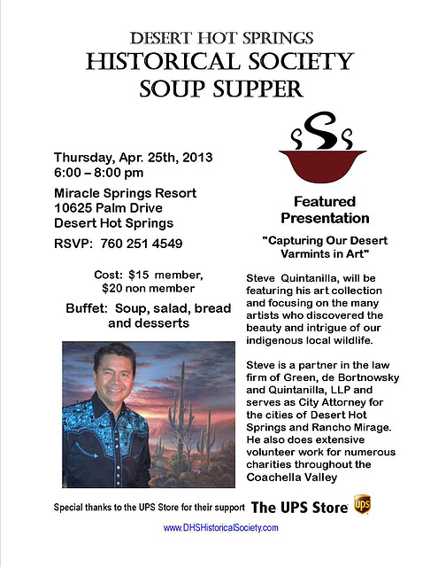 DHS Historical Society Soup Supper April 25 2013