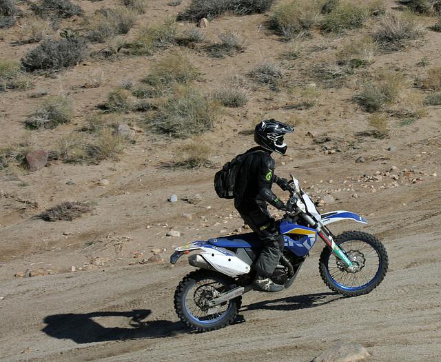 Motorcyclist Climbing Mengel Pass (9713)