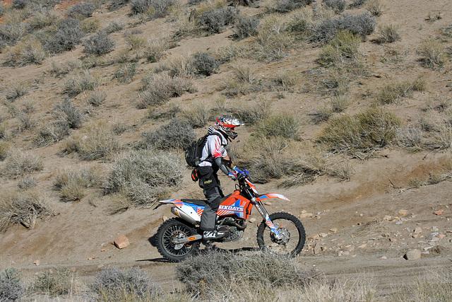 Motorcyclist Climbing Mengel Pass (9714)