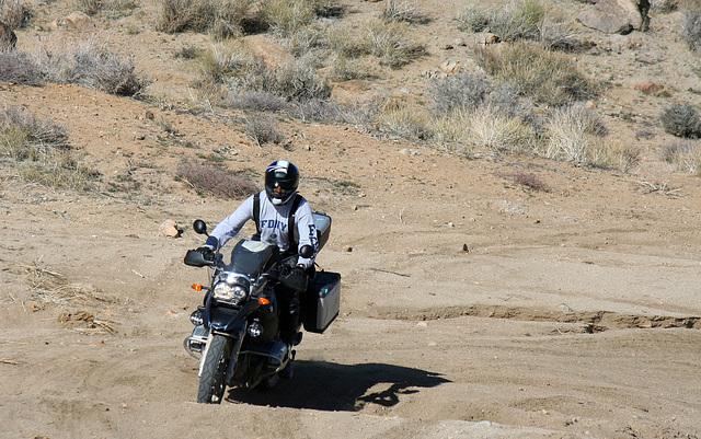 Motorcyclist Climbing Mengel Pass (9706)