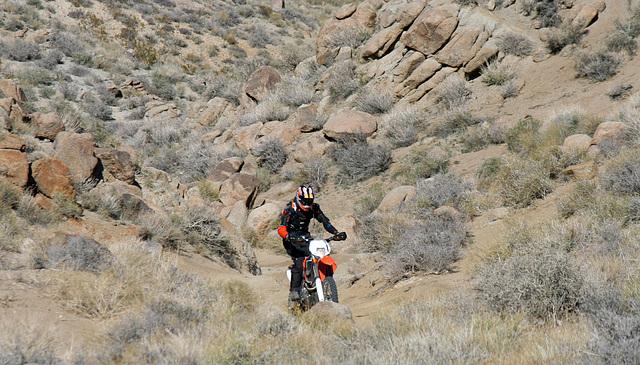 Motorcyclist Climbing Mengel Pass (9697)