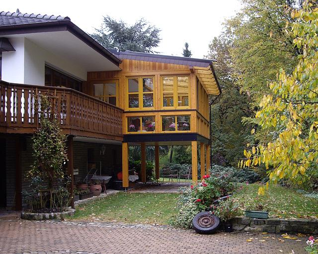 Holz Glas Wintergarten im unteren Extertal