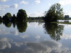 Hochwasser an der Leine in Hannover