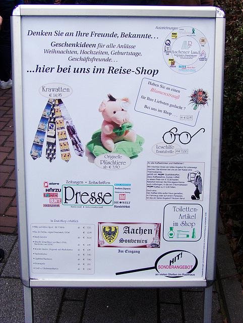 Aachen - Fanartikel und lustige Krawatten