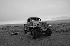 Dodge Truck From Barker Ranch At Ballarat (9547A)