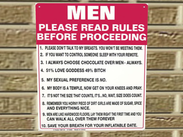 rules for men