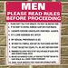 rules for men