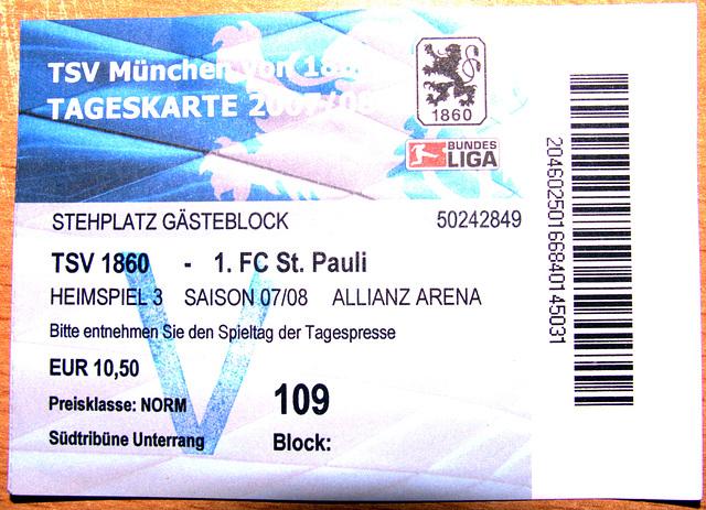 Ticket TSV 81547 München - FC St. Pauli