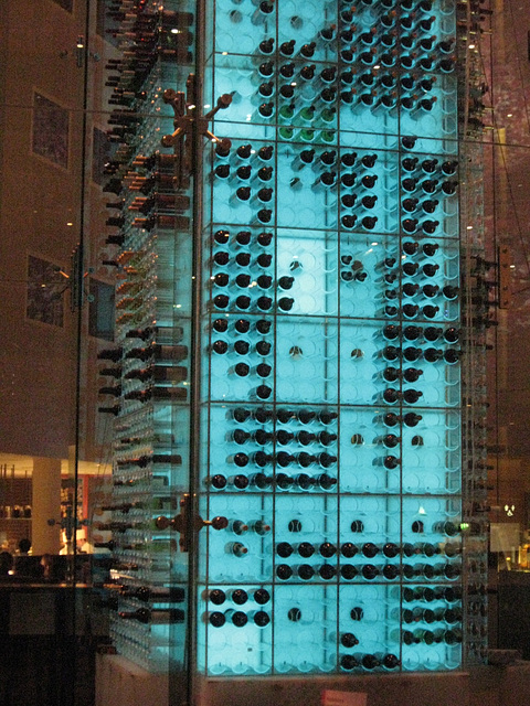 Stansted Radisson Hotel wine tower