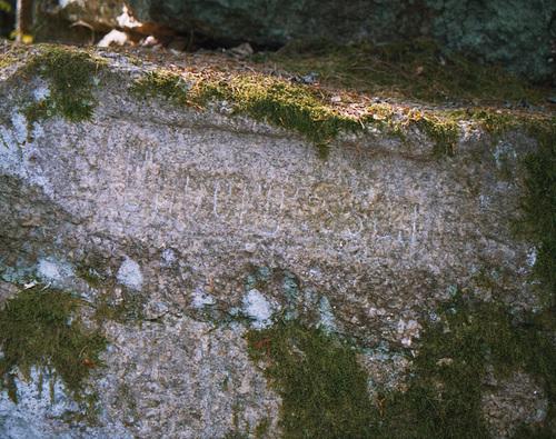 Magnified Russian(?) Markings, Picture 2 (Sumava Hike Picture 8), Sumavsky Narodni Pamatka, Budejovicky Kraj, Bohemia(CZ), 2007