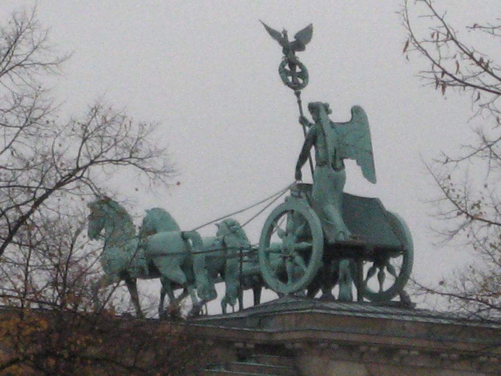 Brandenburg Tor  Quadriga rear