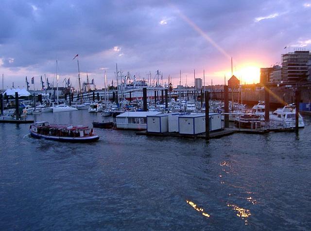 View at Hamburg harbour