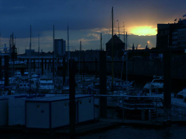 View at Hamburg harbour