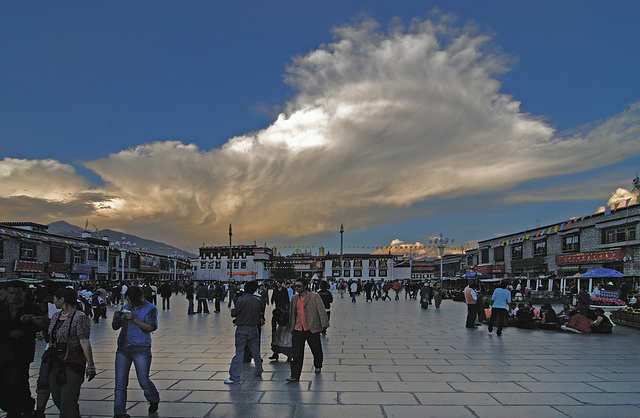 Barkhor Square in front of the Jokhang Monastery