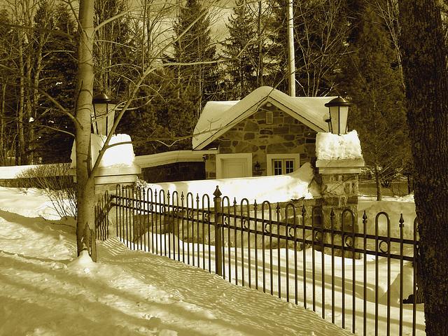 St-Benoit-du-lac / Québec- CANADA - 7 février 2009-  Sepia