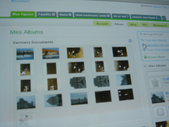 Screenshot de la première version d'ipernity