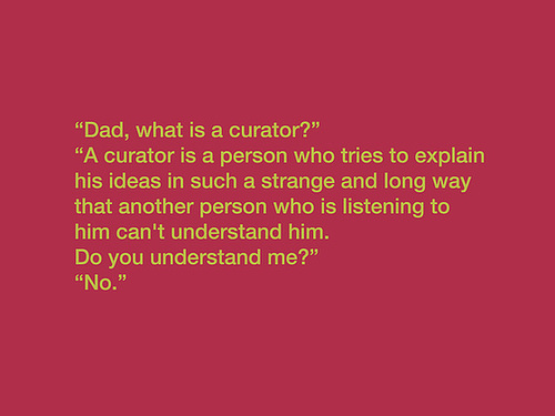 What is a curator? - Minor Artist  (after Richard Prince)