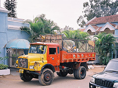 Truck with an Om