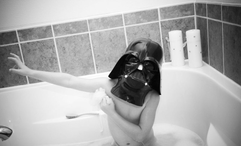 Kid Vader: Typical night time routine