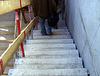 Treppenaufgang (bzw. Abgang) zu den Sitzplätzen und Geschäftsstelle etc. auf der Südtribüne