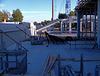 Hinter dem Stehplatzbereich Südkurve entstehender Sitzplatzbereich