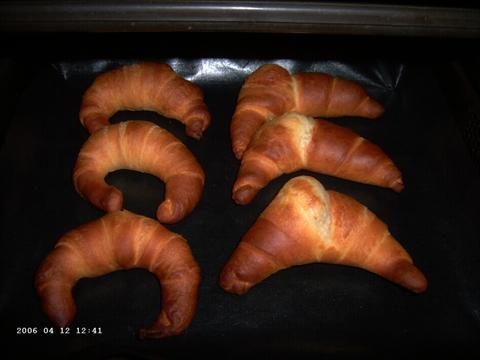Croissantjes en kaascroissantjes