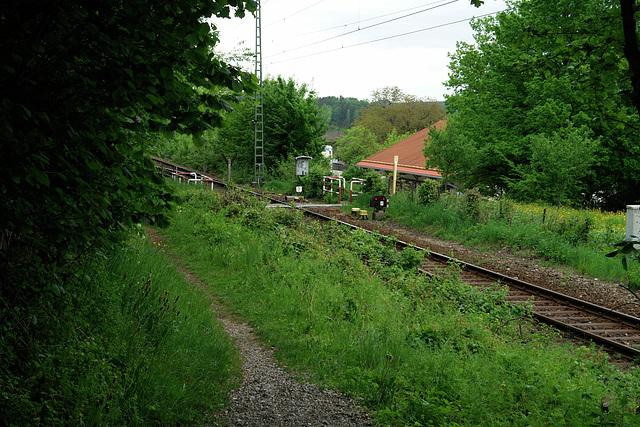 Icking - Schleichersteig and railway crossing