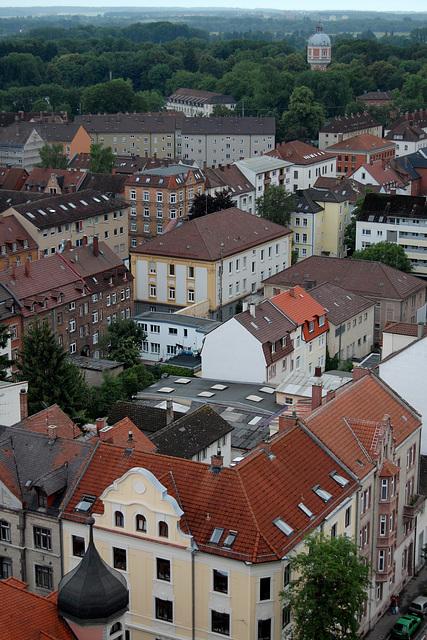 Neu-Ulm Blick zum Wasserturm