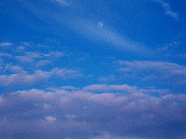 le ciel, à l'instant