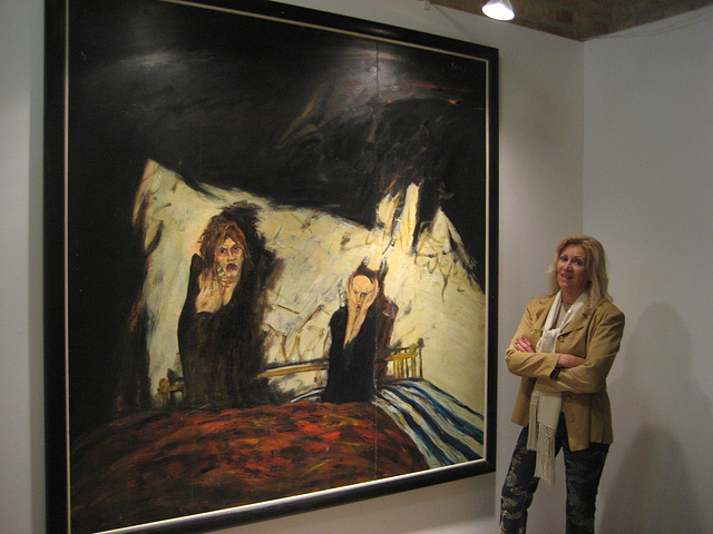 Spandau (Zitadelle), the director of Espaço AmArte with another painting by John Bellany