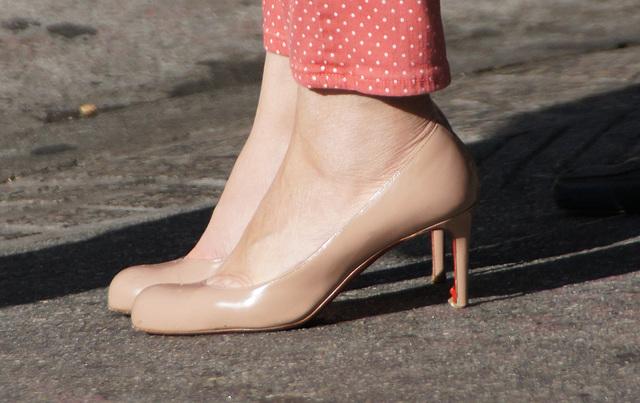 heels on the street
