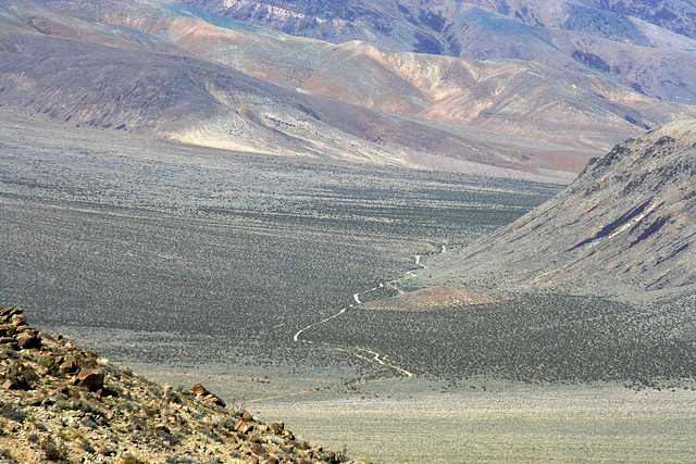 The Road Through Striped Butte Valley (9718)